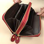 Лаковий гаманець жіночий зі штучної шкіри на дві блискавки Shen Duo (88-1), фото 8