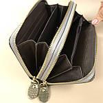 Лаковий гаманець жіночий зі штучної шкіри на дві блискавки Shen Duo (88-1), фото 4