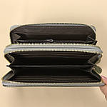 Лаковий гаманець жіночий зі штучної шкіри на дві блискавки Shen Duo (88-1), фото 6