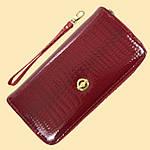 Лаковий гаманець жіночий зі штучної шкіри на дві блискавки Shen Duo (88-1), фото 9