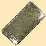 Лаковий гаманець жіночий зі штучної шкіри на дві блискавки Shen Duo (88-1), фото 3