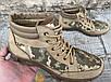 Ботинки тактические, берцы летние из натуральной кожи и ткани пиксель ДК ботинок писель, фото 3