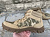 Ботинки тактические, берцы летние из натуральной кожи и ткани пиксель ДК ботинок писель, фото 5