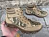 Ботинки тактические, берцы летние из натуральной кожи и ткани пиксель ДК ботинок писель, фото 7