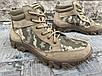 Ботинки тактические, берцы летние из натуральной кожи и ткани пиксель ДК ботинок писель, фото 2