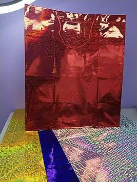 Подарунковий Пакет Гігантський з малюнком голограма 43 на 50 см на 23 зм1 шт