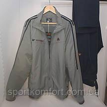 Мужской спортивный прогулочный костюм из плащевой ткани Турция Соккер размер 3хл 4хл, фото 2