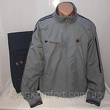 Мужской спортивный прогулочный костюм из плащевой ткани Турция Соккер размер 3хл 4хл, фото 3