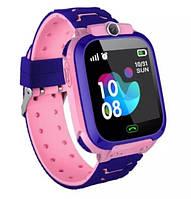 Детские Смарт часы с GPS S12 Розовые (Smart Watch) Умные часы