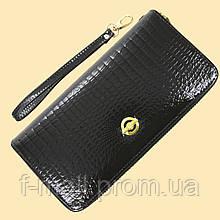 Лаковий гаманець жіночий зі штучної шкіри на блискавці Shen Duo (8811-1)