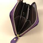 Кошелёк женский лаковый из искусственной кожи на молнии  Shen Duo (8811-1) фиолетовый, фото 3