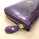 Кошелёк женский лаковый из искусственной кожи на молнии  Shen Duo (8811-1) фиолетовый, фото 2