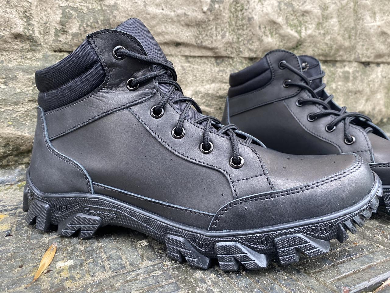 Ботинки тактические, берцы из натуральной кожи черного цвета Бот дк черный