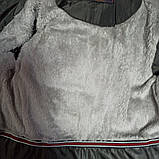 Куртка зимняя модная нарядная красивая оригинальная теплая серого цвета для мальчика., фото 2