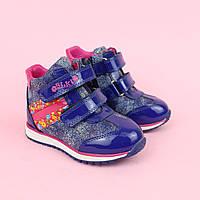 Демісезонні черевики для дівчинки, шкіра тм BiKi р. 21,22, фото 1