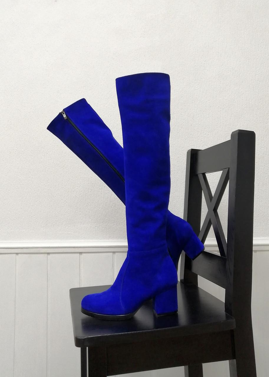 Стильные ботфорты на каблуке