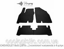 Автоковрики на Chevrolet Bolt 2016> Stingray гумові 4 штуки