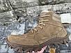 Ботинки берцы Зимние из натуральной кожи и меха ботинок бежевый энерджи, фото 2