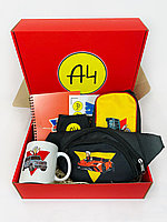 А4 набор - Подарочный Бокс Влад Бумага А 4 Maxi Box Пенал чашка бананка Подарок для ребенка