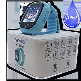 Дитячі смарт-годинник GPS MYOX МХ-06BW Blue з камерою для дітей