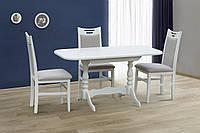 Стол раскладной Аврора (белый\ ваниль), фото 1