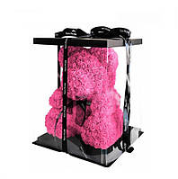 Подарок на 14 февраля девушке мишка из фоамирановых розочек 3д роз на день святого Валентина 25 см