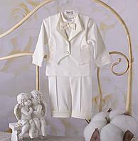 """Костюм для хлопчика""""Міні бос"""" білий, молочний - Розмір 56,62,68,74,80,86"""