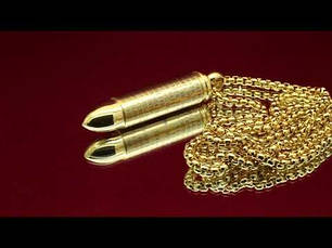 Кулон из медицинской стали Открывающийся патрон с молитвой позолота 18К, фото 2