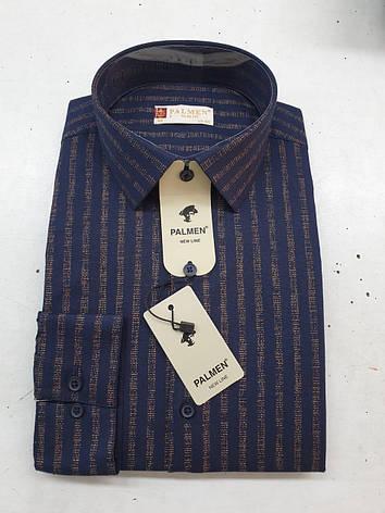 Чоловіча сорочка Palmen slim в полоску, фото 2