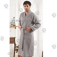 Вафельные мужские и женские халаты