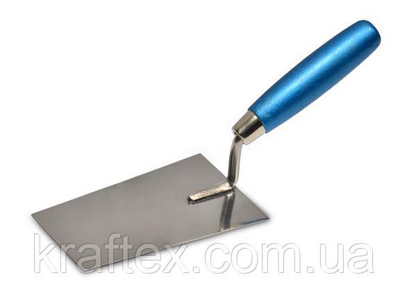 Кельма шпаклювальна сталева з нержавіючим покриттям, 160х80 мм, фото 2