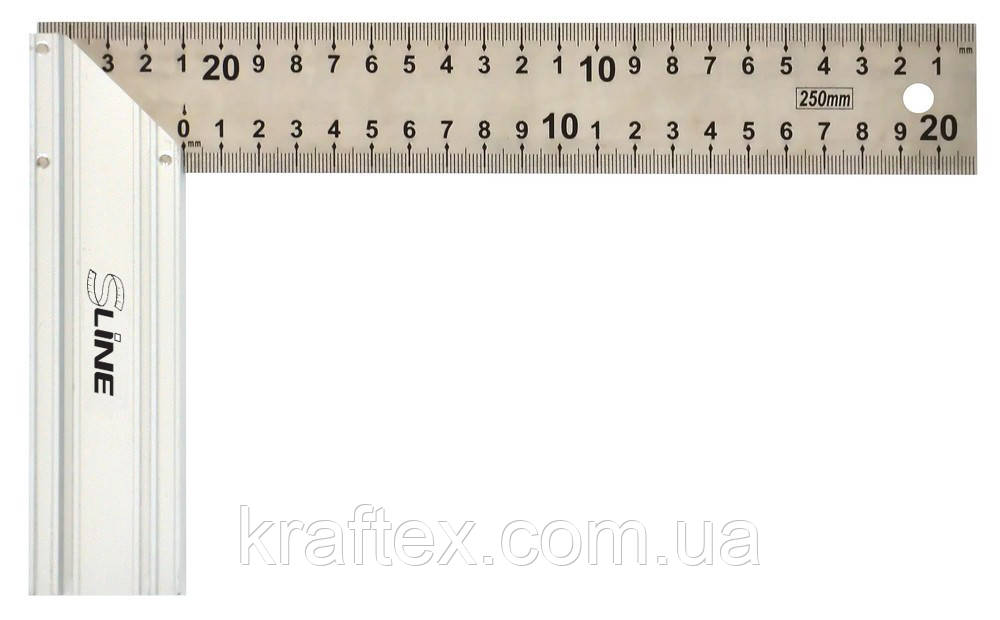 Кутник нержавіючий з алюмінієвою ручкою, 350 мм