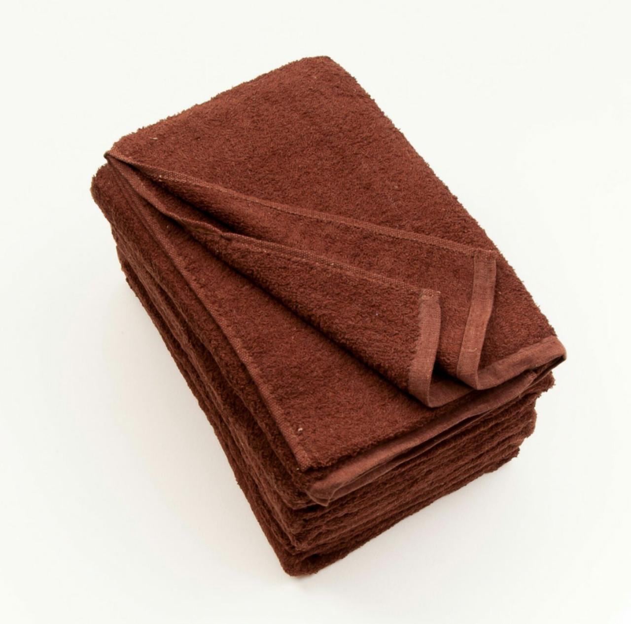 Рушник  банний. МАХРА. Коричневого кольору.