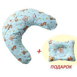 Набір: ортопедична Подушка для годування Лежень + подушка Метелик