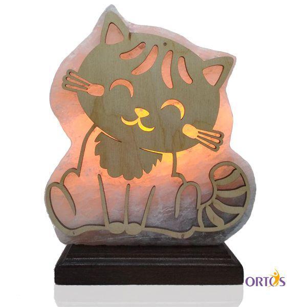 Соляна лампа Пано-нічник дитячий Кошеня 4.8 кг
