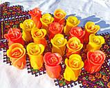 """Круглый стеклянный подсвечник в комплекте с восковой свечой """"Бутон красной розы"""", фото 9"""
