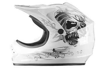 Детский кросс-шлем WL-801A Junior White Skull L Марка Европы
