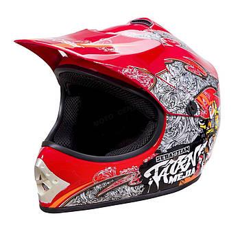 Детский крестовый шлем WL-801A Junior Tatan Red S Марка Европы