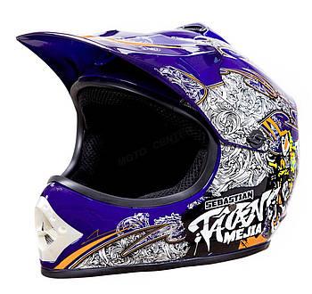 Детский кросс-шлем WL-801A Junior Tatan Blue L Марка Европы