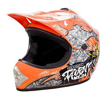 Детский кросс-шлем WL-801A Junior Tatan Orange M Марка Европы