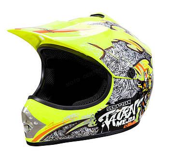 Детский кросс-шлем WL-801A Junior Tatan Celedynowy L Марка Европы
