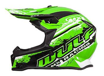 Кросс-шлем Wulf PRO Junior Green XL Марка Европы