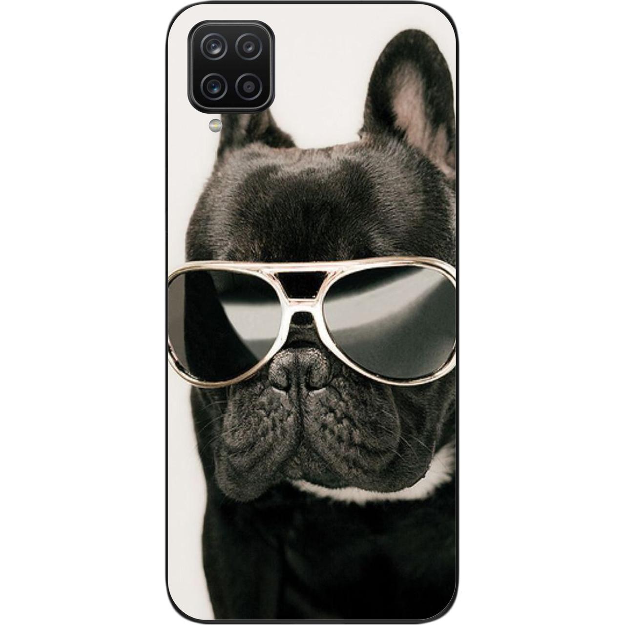 Бампер силиконовый для Samsung A12 Galaxy A125F с рисунком Крутой пес