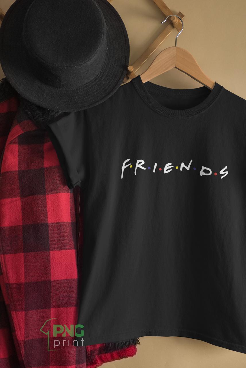 """Футболка з надписом / футболка з принтом з серіалу """"Friends"""""""