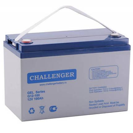 Аккумулятор Challenger G12-100 (12 В, 92 А*ч, GEL), фото 2
