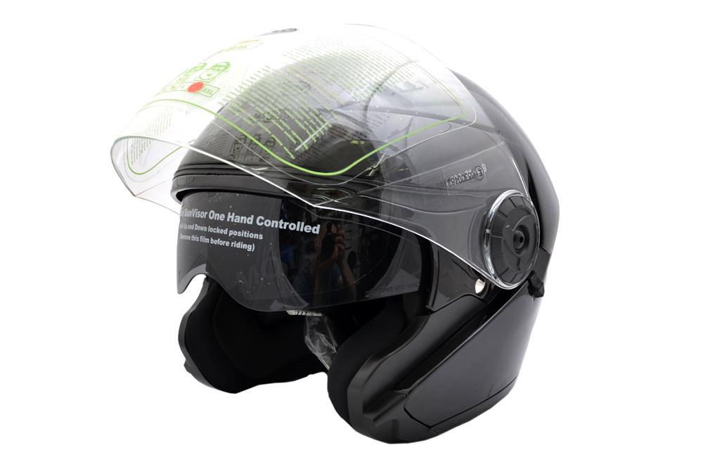 Мотоциклетный шлем open NAXA S17 blende black gloss S Марка Европы