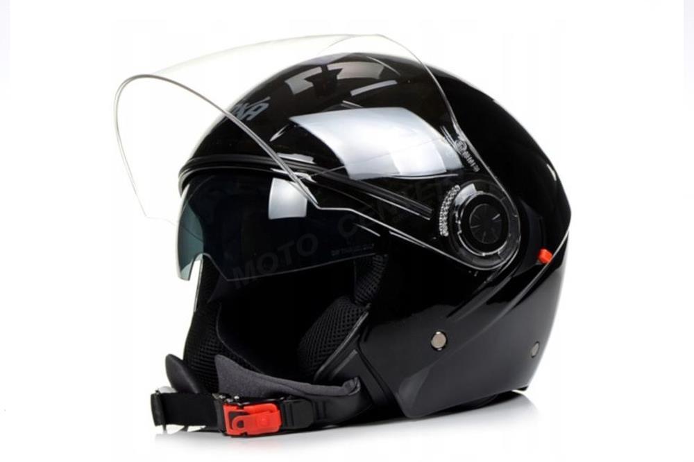 Мотоциклетный шлем open NAXA S21 blende black gloss M
