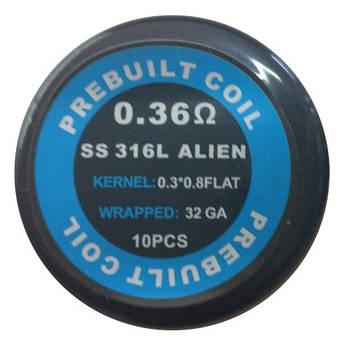 Alien Coil SS316L 0.36 Ом (10 шт)