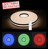 """Светильник с пультом Люстра Feron AL5100 60W RGB EOS LED 50 см потолочный эффект """"звездного неба"""""""