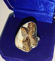 Серебряный перстень с ставролитом, размер 19,4, фото 1